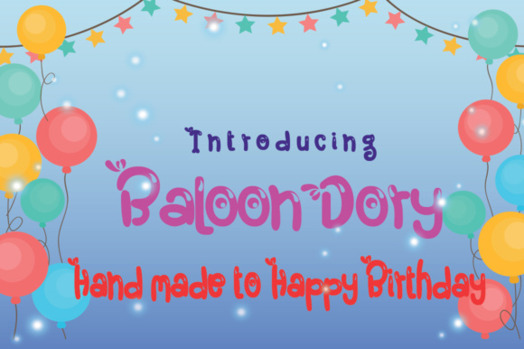 Print on Demand: Baloon Dory Display Font By jehansyah251