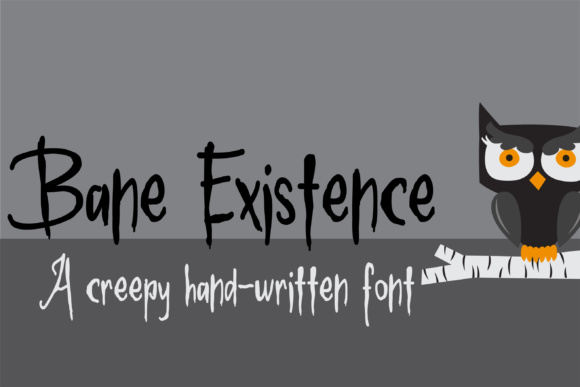 Print on Demand: Bane Existence Display Font By Illustration Ink