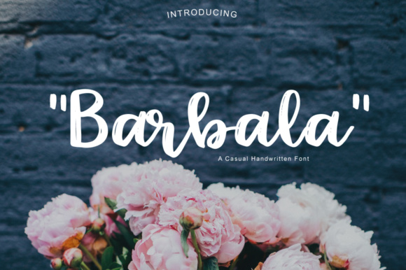 Print on Demand: Barbala Script & Handwritten Font By PaulaType