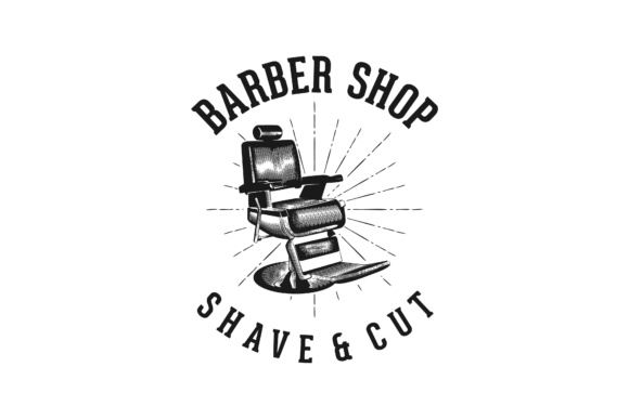 Download Free Barber Shop Shave And Cut Classic Logo Graphic By for Cricut Explore, Silhouette and other cutting machines.