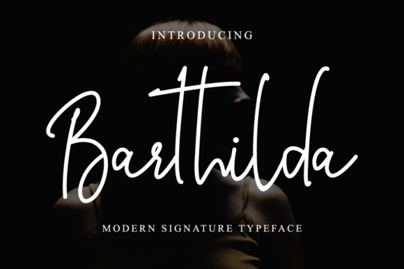 Print on Demand: Barthilda Script & Handwritten Font By fanastudio