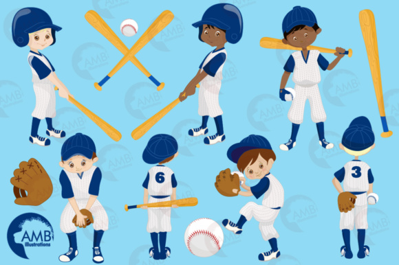Download Free Baseball Boys Clipart Graphic By Ambillustrations Creative Fabrica for Cricut Explore, Silhouette and other cutting machines.