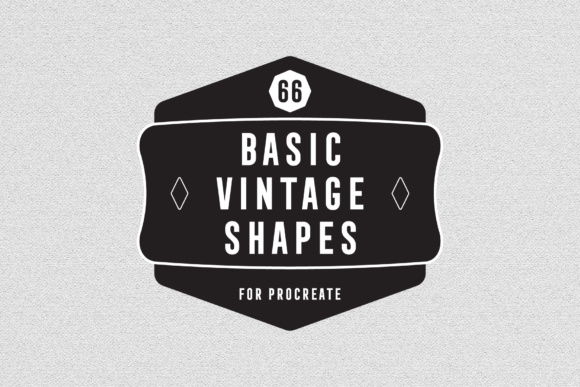 Print on Demand: Basic Vintage Shapes - Procreate Brush Graphic Brushes By MuSan