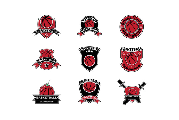 Download Free Basketball Championship Logo Set Graphic By Anasofart Creative for Cricut Explore, Silhouette and other cutting machines.
