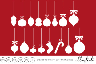Download Free Baubles Files Christmas Graphic By Illuztrate Creative Fabrica for Cricut Explore, Silhouette and other cutting machines.