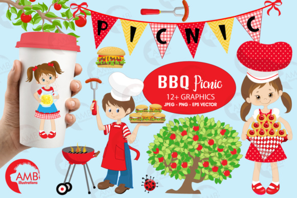 Bbq Clipart Graphic Illustrations By AMBillustrations