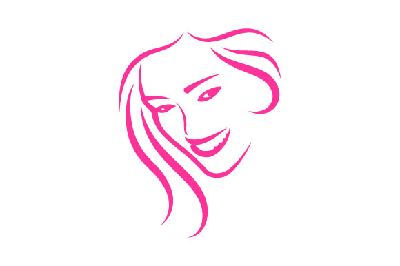 Beautiful woman face and hair care logo Graphic by ...