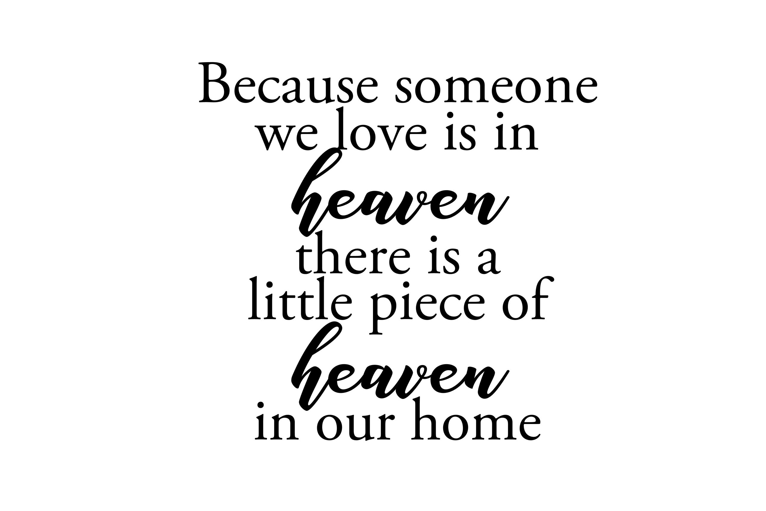 25+ Because Some We Love Is In Heaven Svg Design