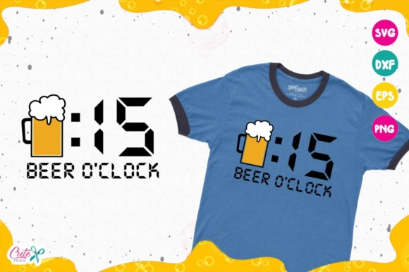 Beer 15 O'clock Graphic Illustrations By Cute files
