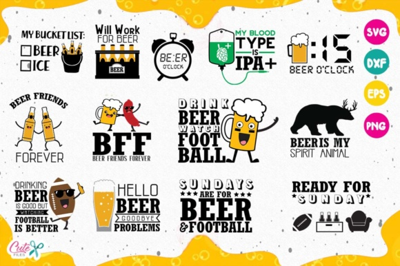 Funny Beer Quotes Bundle Graphic By Cute Files Creative Fabrica
