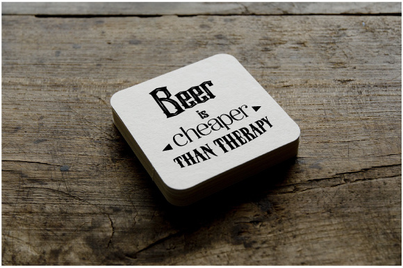 Beer is Cheaper Than Therapy Cups & Mugs Craft Cut File By Creative Fabrica Crafts