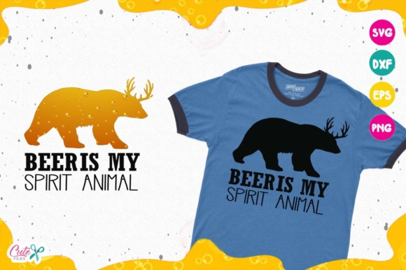 Download Free Beer Is My Spirit Animal Beer Sayings Beer Humor Svg Graphic for Cricut Explore, Silhouette and other cutting machines.