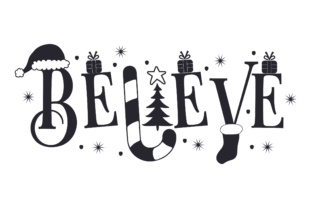 Believe Christmas Craft Cut File By Creative Fabrica Crafts 2