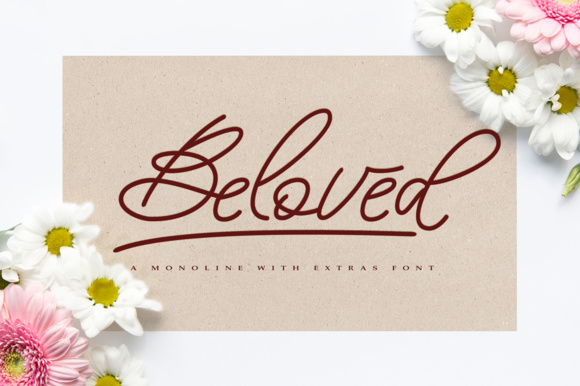 Print on Demand: Beloved Script Script & Handwritten Font By alandya typefoundry