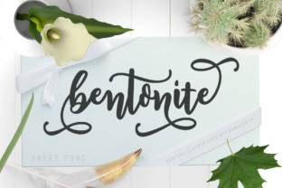 Print on Demand: Bentonite Script Script & Handwritten Font By Franstudio