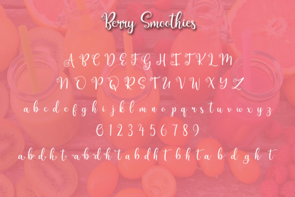 Print on Demand: Berry Smoothies Script & Handwritten Font By Kristy Hatswell - Image 2