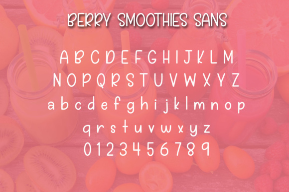 Print on Demand: Berry Smoothies Script & Handwritten Font By Kristy Hatswell - Image 3