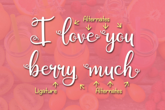 Print on Demand: Berry Smoothies Script & Handwritten Font By Kristy Hatswell - Image 4