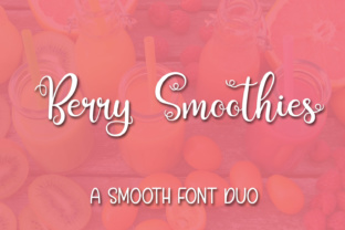 Berry Smoothies Font By Kristy Hatswell