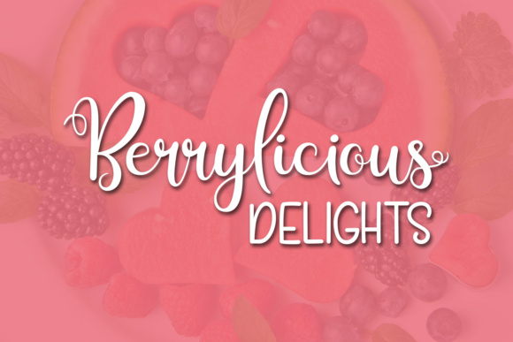 Print on Demand: Berry Smoothies Script & Handwritten Font By Kristy Hatswell - Image 5