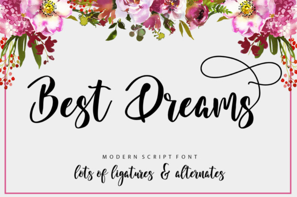 Print on Demand: Best Dreams Script & Handwritten Font By luckytype.font