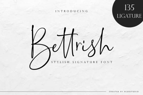 Print on Demand: Bettrish Script & Handwritten Font By Bluestudio - Image 1