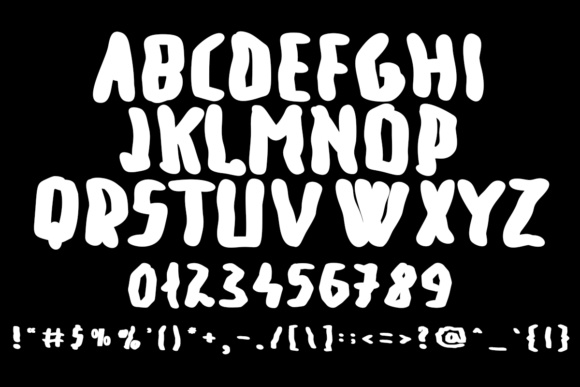 Print on Demand: Big Old Dino Display Font By Lickable Pixels - Image 5