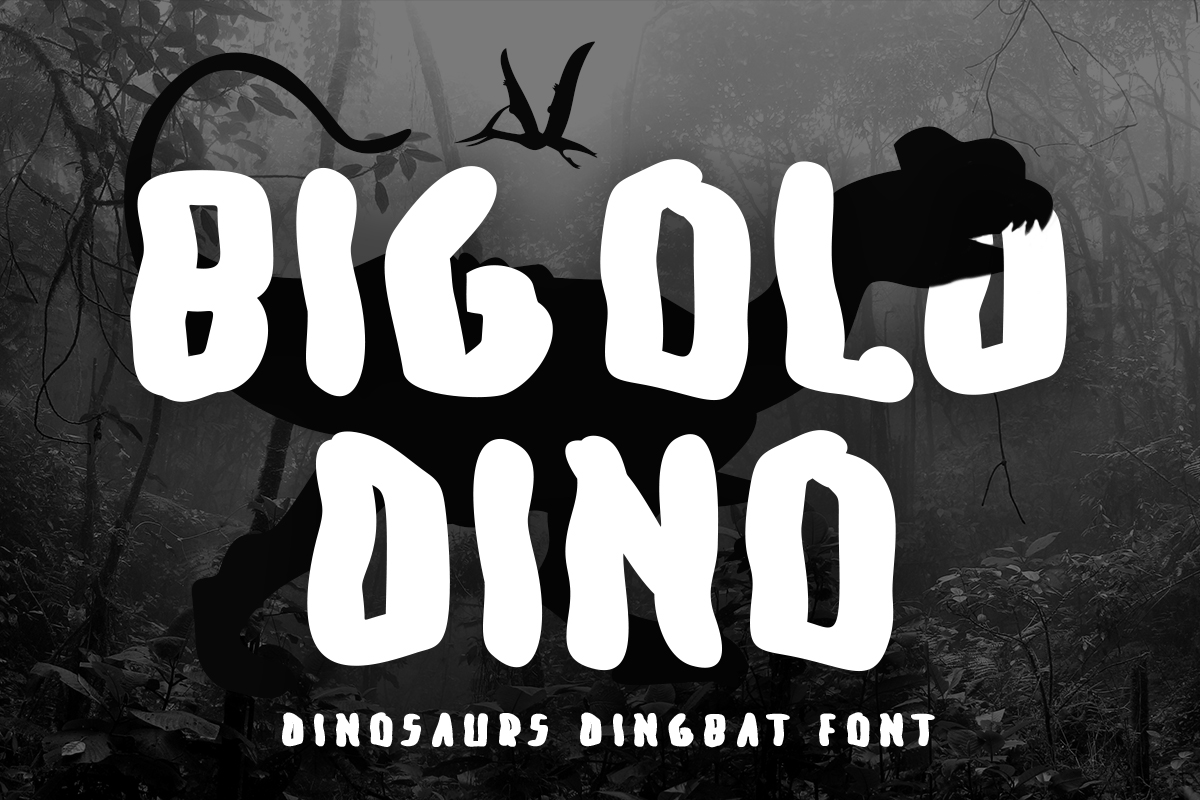 Download Free Big Old Dino Font By Lickable Pixels Creative Fabrica for Cricut Explore, Silhouette and other cutting machines.