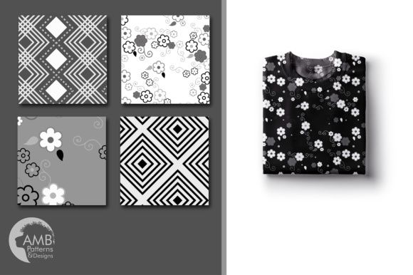 Black and White Geometric Papers Graphic Patterns By AMBillustrations - Image 4