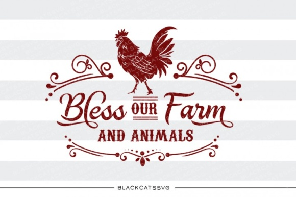 Bless Our Farm and Animals Graphic Crafts By BlackCatsMedia