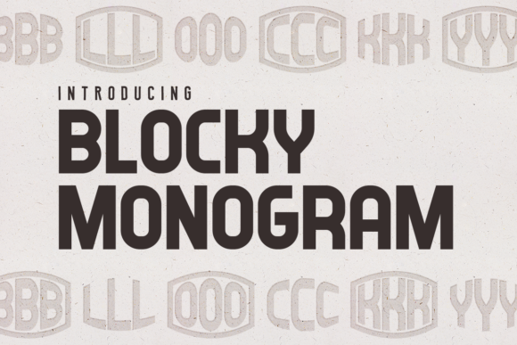 Print on Demand: Blocky Monogram Decorative Font By vladimirnikolic - Image 1