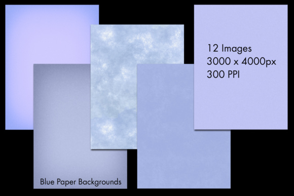 Print on Demand: Blue Paper Backgrounds - 12 Image Set Graphic Backgrounds By SapphireXDesigns - Image 2