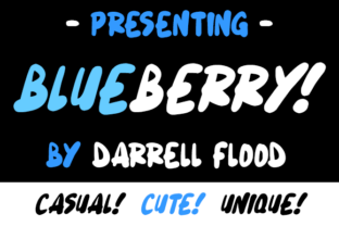 Print on Demand: Blueberry Script & Handwritten Font By Dadiomouse