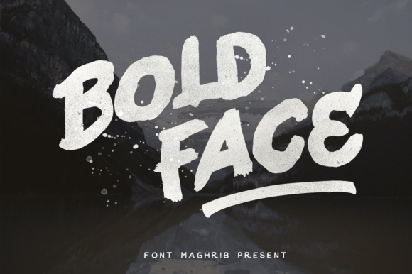 Print on Demand: Bold Face Display Font By maghrib