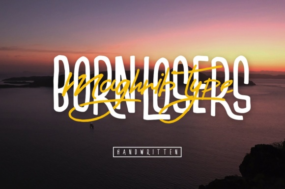 Print on Demand: Born Losers Script & Handwritten Font By maghrib