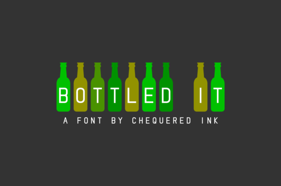 Print on Demand: Bottled It Decorative Font By Chequered Ink