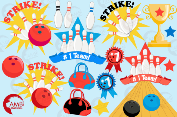 Download Free Bowling Clipart Graphic By Ambillustrations Creative Fabrica for Cricut Explore, Silhouette and other cutting machines.