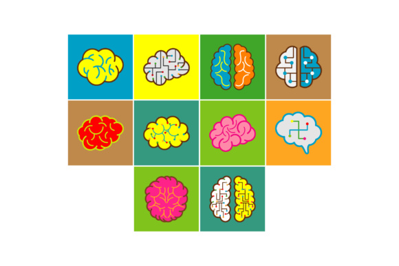 Brain Logo Vector Graphic Icons By anasofart