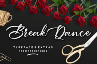Print on Demand: Break Dance Script & Handwritten Font By Franstudio