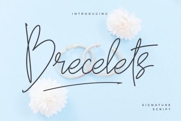 Print on Demand: Brecelets Script & Handwritten Font By MuSan