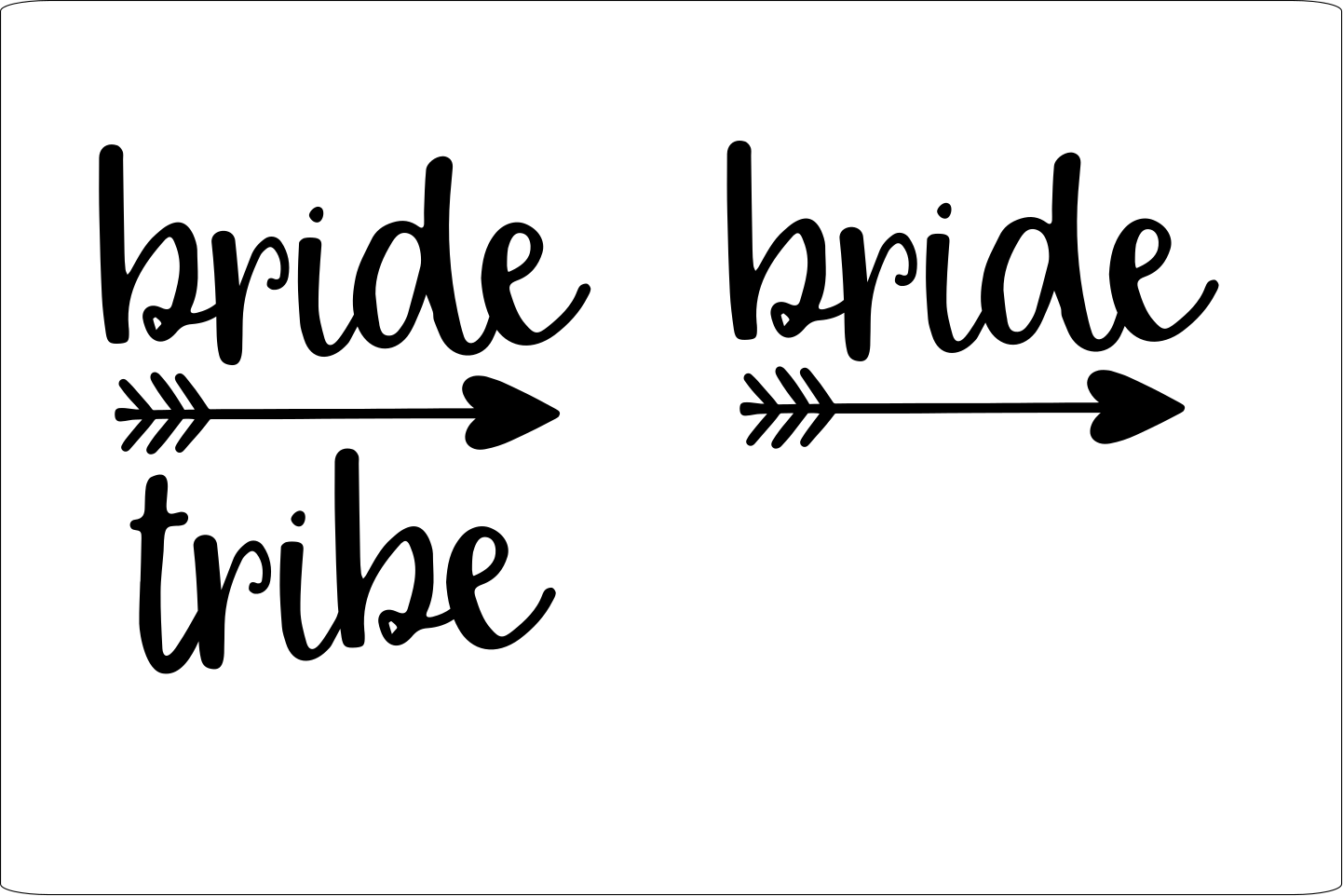 Download Free Bride And Bride Tribe Graphic By Joyful Creations Creative Fabrica for Cricut Explore, Silhouette and other cutting machines.