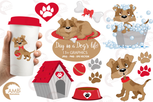Download Free Brown Dog Clipart Graphic By Ambillustrations Creative Fabrica for Cricut Explore, Silhouette and other cutting machines.