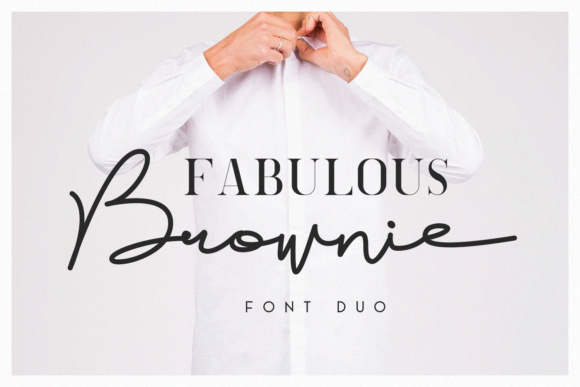 Print on Demand: Brownie Duo Script & Handwritten Font By Factory738