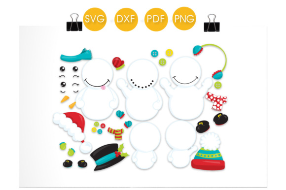 Build a Snowman - Christmas Graphic Crafts By PrettyCuttables - Image 2