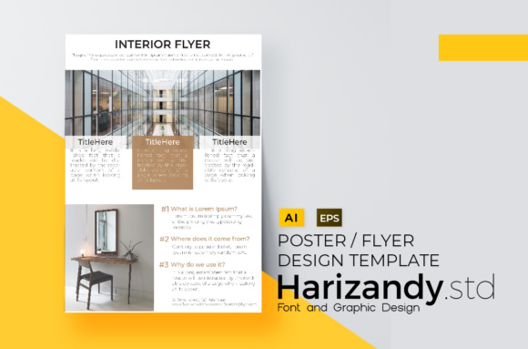 Building Interior Flyer Dsign Graphic Print Templates By harizandy - Image 2