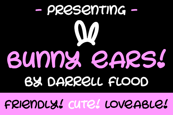 Print on Demand: Bunny Ears Script & Handwritten Font By Dadiomouse