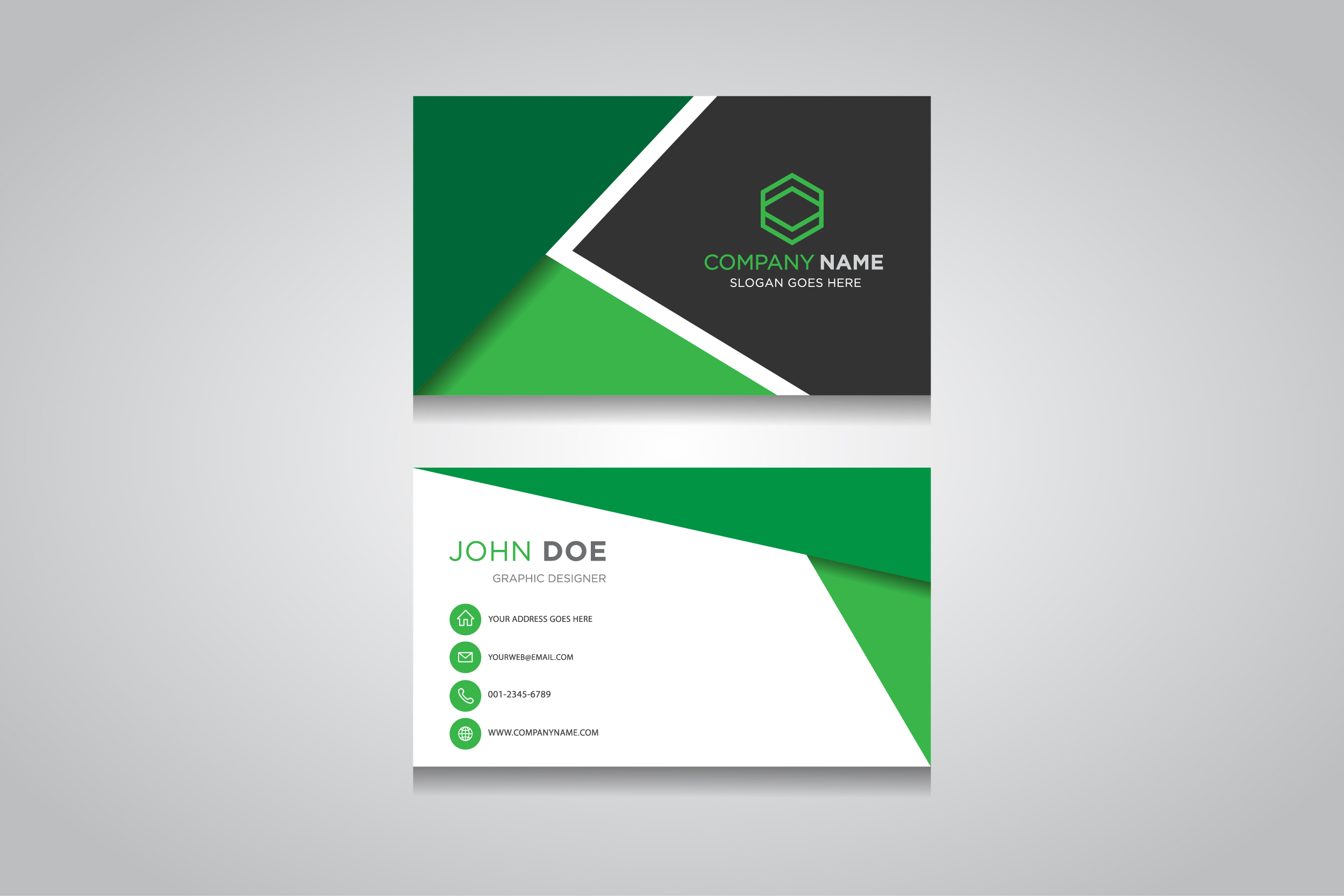 Business Card Template Creative Business Card Graphic By Anasofart