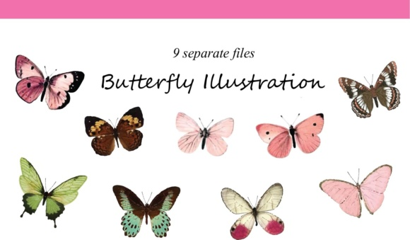 Print on Demand: Butterflies Illustration Graphic Illustrations By nurionart