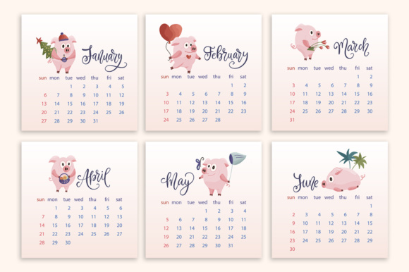 Print on Demand: 2019 Calendar with Graphic Elements Graphic Illustrations By Red Ink - Image 7