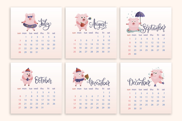 Print on Demand: 2019 Calendar with Graphic Elements Graphic Illustrations By Red Ink - Image 8